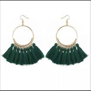 Jewelry - 🚨 5/$20 Green fringe tassel earrings